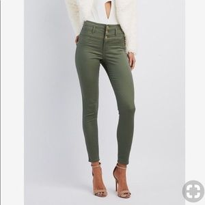 Navy green refuge high wasted jeans